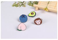 avocado plants - New Design Fashion Accessories Metal Colorful Enamel Fruits Series Avocado Blueberry Peach Monkey Metal Oil Drop Brooch Pins Brooch Pin