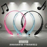 Reducción de ruido de marca MT9 AEC Bluetooth estéreo inalámbrico Auriculares manos libres auricular con el MIC para el iPhone 5 5S para Ipad para la PC de la tableta