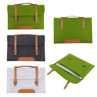 Wholesale Fashion inch Woolen Felt Laptop Cover Case Notebook Sleeve Bag Pouch For Apple Macbook Pro Air for laptop tablets notebook