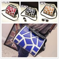 alligator jaw - New arrival fashion women temperament hit the color tile personality jaws diagonal package influx of women shoulder handbag VMB102