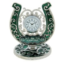 Wholesale Countryside style antique Desk Alarm Clock Christmas creative fuuny Gift Home Decor Christmas Gifts bring Fortunately