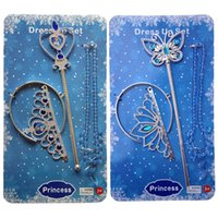 baby magic set - PrettyBaby girls cinderella accessories crown magic wand necklace baby girls xmas sets rhinestones crown butterfly wand high heels necklace