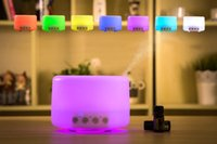 Wholesale 500ml Aromatherapy Essential Oil Diffuser Portable Ultrasonic Cool Mist Aroma Humidifier Color LED Lights Change and Waterless ST