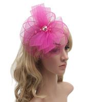 2016 Accessoires de cheveux pour les femmes de mariée mariage cheveux clip Fascinator Décoration Cocktail Party Fleur Archets Cheveux Brides postiches Bandeaux