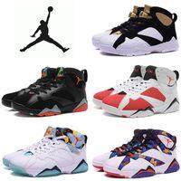 Cheap Nike Air Jordan 7 Retro Basketball Shoes mens Cheap Jordans VII Boots 100% Original Sneakers AJ7 2016 New white Sport Shoes Free Shipping