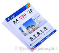 Expreso libre A4 (210 * 297 mm) 200g 20 hojas de papel fotográfico de alto brillo impermeable papel fotográfico Papel tinta, para una variedad de impresoras de inyección de tinta