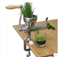 auger juicer - Handy Hand Crank wheat Grass Juicer Stainless Steel manual Auger Slow Juice Ideal for Fruit Vegetables Wheatgrass orange