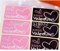 Wholesale E2 valentine double colors sealing scratch handmade with love sticker baking package cake box decoration cm