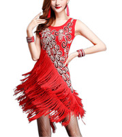 Wholesale Whitewed Bling Fringe s Flapper Great Gatsby Party Outfits Attire Costumes Rivet Sequin Tassel Two Piece s Gatsby Style Party Dresses