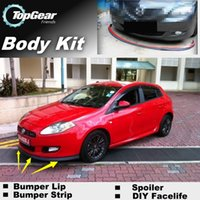 Wholesale Bumper Lip Lips For Fiat Bravo Ritmo Front Skirt Deflector Spoiler For Car Tuning The Stig Recommend Body Kit Strip