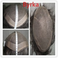 Wholesale PU WIG Real hair middle aged men with short hair Can be customized according to customer requirements full lace wigs Ease of ordering