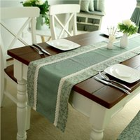 Wholesale American style plaid fabric patchwork table runner table cloth