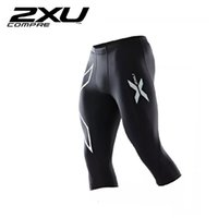 Wholesale Sale Hot right now XU Men s Compression Tights all sizes Black Silver Running Exercise New