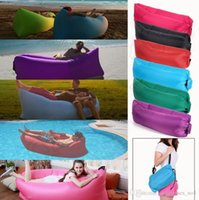 Wholesale Fast Inflatable Sofa Sleeping Bag Portable Outdoor Air Sleep Sofa Couch Lazy Hangout Bag For Camping Travel cm QQA408