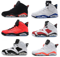 Wholesale 2016 air retro men Basketball Shoes Infrared Carmine black cat Angry bull Infrared Oreo WhiteInfared Black Sport Blue Olympic Sneaker