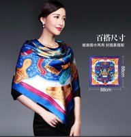 artificial leather china - CHINA LUXURY PURE SILK SCARVES Women Silk Muffler Women Real Rilk Scarf Scarves Shawl Dual Long Scarves Chinese Style Printed Scarves