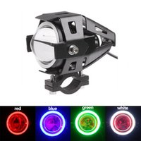 Wholesale Cree Colorful LED Motorcycle Headlight U7 W LM Angel Eye Bike High Waterproof LED Fog Light Driving Lights Spotlight