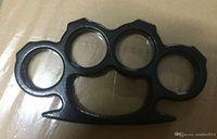 Wholesale 200PCS Silver and Black New ARIVAL THIN STEEL BRASS KNUCKLES DUSTER BUCKLE DHL FEDEX UPS DHL