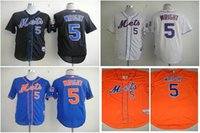 athletic new york - Cheap New York Mets Wright Mens Baseball Jerseys White Orange Blue Embroidery MLB Athletic Shirt Cool Base Football Jersey M XXXL