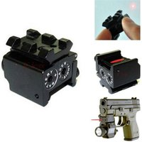 adjustable pistol sights - New Mini Adjustable Compact Red Dot Laser Sight Fit For Pistol gun with Rail Mount mm in Hunting Accessious