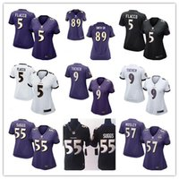 authentic ravens jerseys - 2016 hot sale women football Jerseys Baltimore Joe Flacco cheap nice Ravens jerseys elite authentic football shirt size S XL