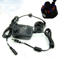 Wholesale 12 LED Ultrasonic Mist Maker Fogger Water Fountain Pond With Electronic Transformer