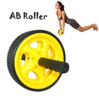 Wholesale Hot Cheap Plastic PVC Abdominal Ab Roller Wheel For Exercise Belly Fitness Equipment Lose Weight