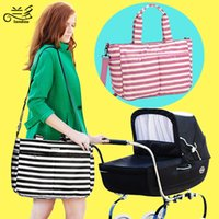 bebe tote bags - Fashion Strip baby diaper bags waterproof Messenger nappy bag Durable mother outdoor maternity bag sac a langer bebe couche