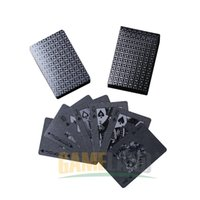 Wholesale Black plastic poker cards PET environmental friendly Special Poker Cards Advanced Plastic Playing Cards Pokerstars