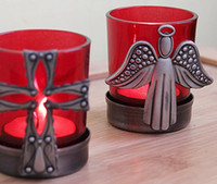 Wholesale Europe Style Angel Cross Candle Holders Home Decoration Wedding Decor Colors
