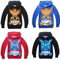 Wholesale Cartoon Poke mon Go Pokeball Cosplay Hoodies Team Instinct Mystic Valor Super Master Kids Casual Sweatshirts