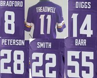best viking - Mens Elite Laquon Treadwell Stefon Diggs Harrison Smith Adrian Peterson Anthony Barr Sam Bradford vikings jersey best quality stitched