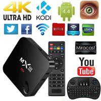 Wholesale MXIII MX3 K Quad Core Smart TV BOX Android KODI XBMC Fully Loaded WIFI GB