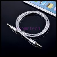 audio interfaces - Fidelity wire core mm universal interface AUX audio cable crystal wire metal shell AUX audio line for cell phone iphone plus tablet