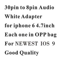 Wholesale 30pin to pin Audio Adapter for newest iOS pin to pin Support Audio Charge and Sync Data for iPhone i4