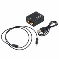 audio power cord - NEW Digital Adaptador Optic Coaxial RCA Toslink Signal to Analog Audio Converter Adapter With power cord Fiber optic cable