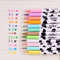 Wholesale Color Candy Colored Milky Gel Pen kawaii Stationery School Supplies Draw Pen Kid s gifts