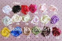 al por mayor roseta de 15mm-FZ022 Craft roseta de cinta de círculo de oro rosa 500pcs 15mm cinta mezclada rosetas de flores pequeñas de re