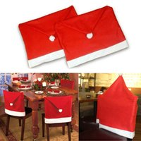 backrest chair covers - 20 pieces Christmas Decoration Christmas Chair Covers Hotel Chair Backrest Cushion Covers Decor For Christmas Dining Chair Cover