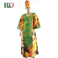 african print ties - 2016 African woman dress Dashiki wealthy cotton tie dye color bazin embroidered gown dress African dress design S2422zr