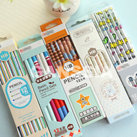 Wholesale 12pcs pack HB pencils wooden Office school standard pencil for drawing Stationery material escolar infantil ss a993