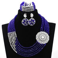 beaded earrings designs - Latest Beaded Necklace African Fashion Jewelry Sets for Party African Wedding Jewellery Designs for Girl Party