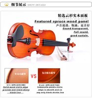 Wholesale 1 solid wood violin All real materials production there is a penalty ten thousand fake material