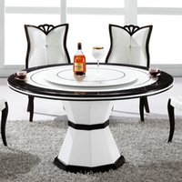 Wholesale Korean style dinning table largely simplicity beautiful dinning furniture white black color table can door to door one set can sell