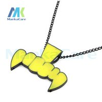 Wholesale 3 Creative Gifts fluorescent color tiger teeth vampire teeth long necklace sweater chain