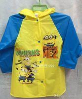 Wholesale Mnions raincoats Despicable of Me Rain Coat Children Raincoat Rainwear Rainsuit kids cartoon Minions kids raincoats LJJD3033A