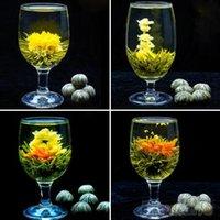 Wholesale 4 Balls Different Handmade Blooming Flower Green Tea Home Wedding Gift ON6 OP3