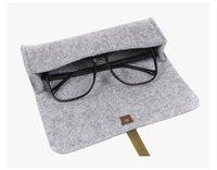 Wholesale Wool felt environmental glasses bag Customizable logo