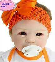 Cheap High Quality Real Silicone Baby Dolls Of NPK Dolls Brand About 22inch Safe Feelgood Reborn Dolls Babies Brinquedos For Children