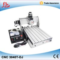 Wholesale New design and wholeprice V cnc router3040T DJ cnc engraving machine mini cnc milling machine with free gift plain vice